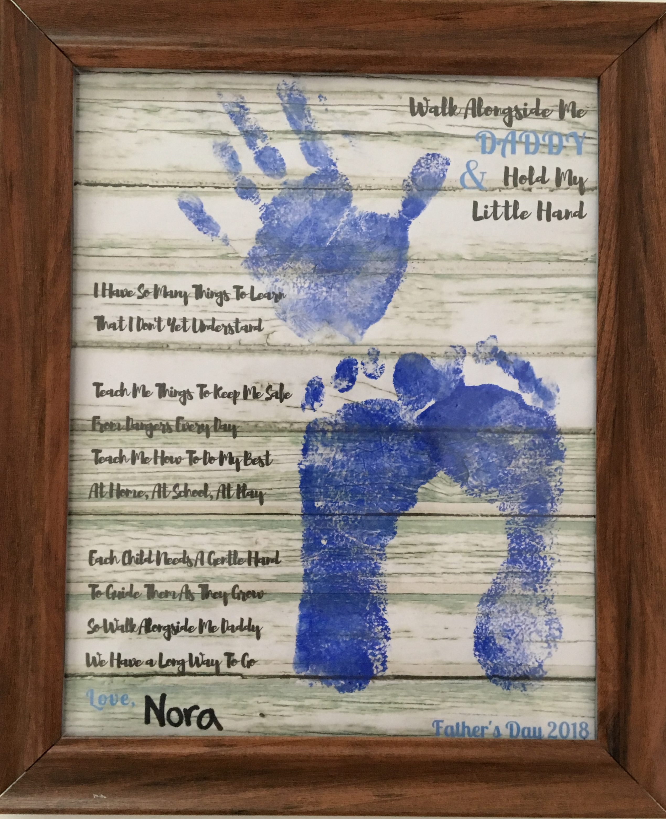 image about Walk With Me Daddy Poem Printable titled Wander Along with Me Daddy Keepsake